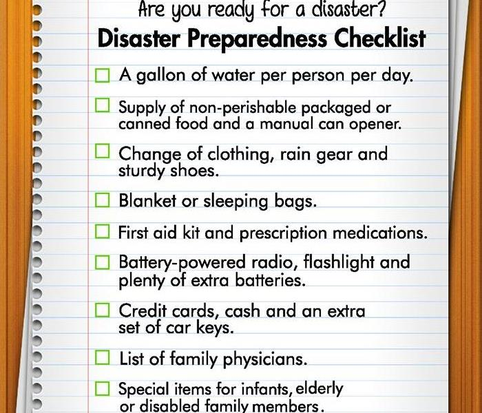 Storm Damage Hurricane Checklist, Be Prepared, Stay Safe, SERVPRO, Woolwich NJ, water damage in Washington Township NJ,
